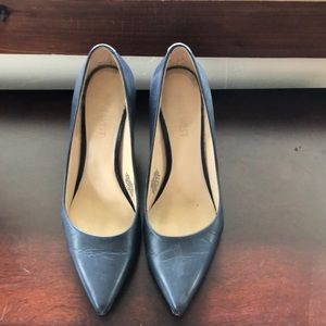Nine West Pumps in Navy Blue. Style is flax.